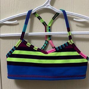 Ivivva Bright Striped Sports Bra Top